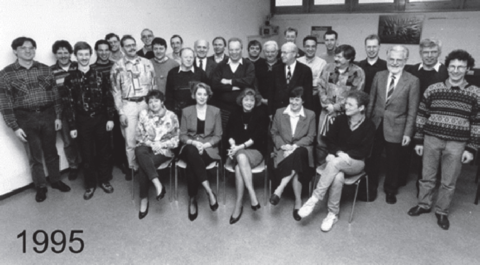 The employees of LTE in 1995